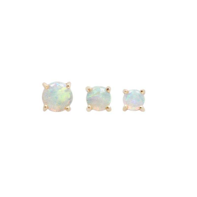 Opal Prong yellow gold