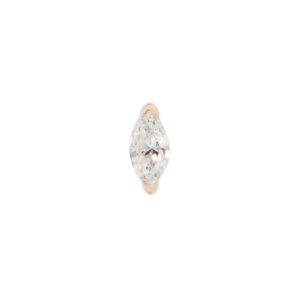 Zuri Marquise Genuine Diamond Solid Yellow Gold