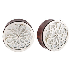 Idol Plugs - Silver + Mother of Pearl