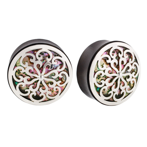 Idol Plugs Silver Abalone Shell