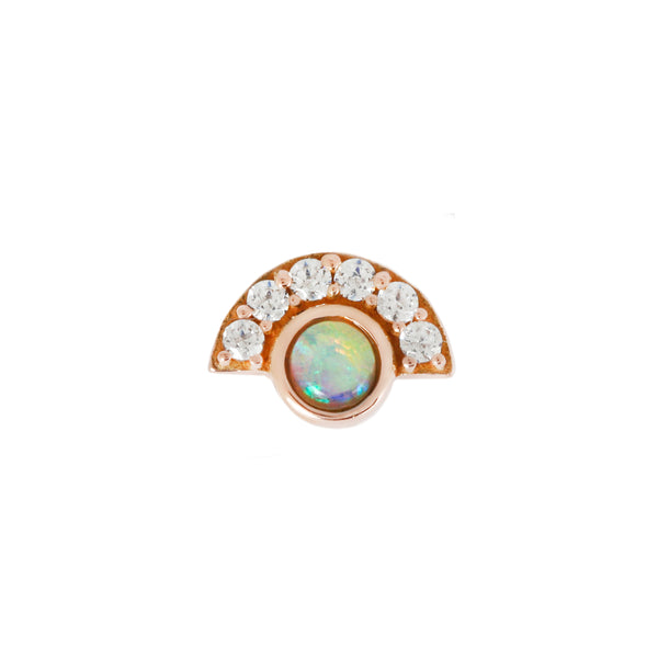 Kahlo Opal + Diamond in solid rose gold