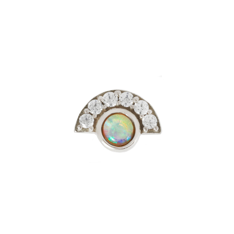 Kahlo Opal + Diamond in solid white gold