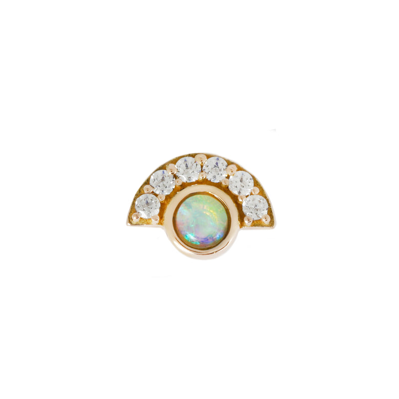 Kahlo Opal + Diamond in solid yellow gold