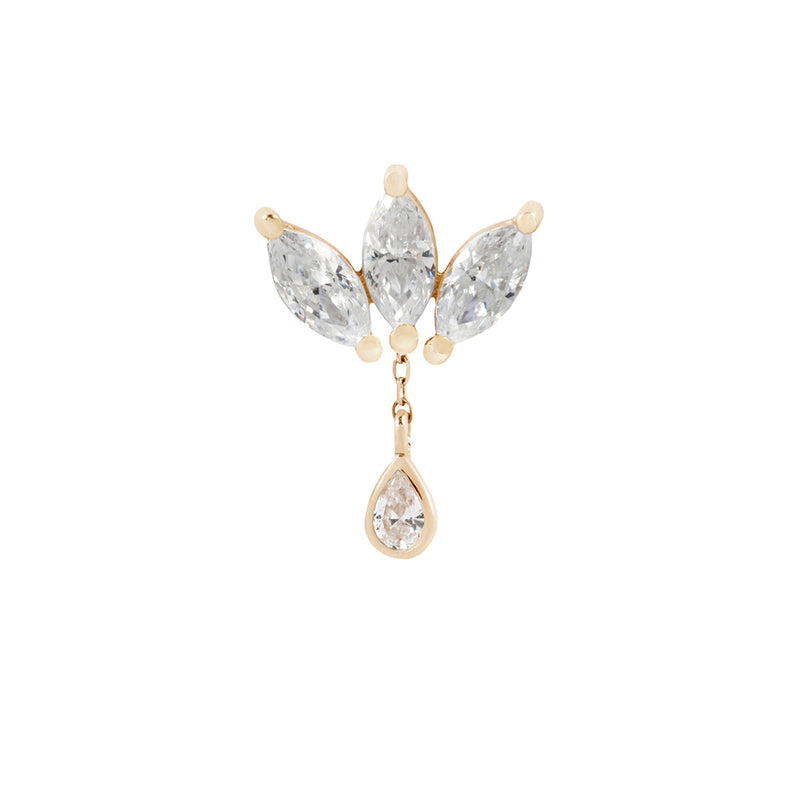Concorde Chain Charm - 14kt Solid Gold + CZ
