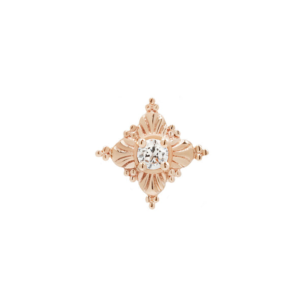 Antoinette CZ in solid rose gold