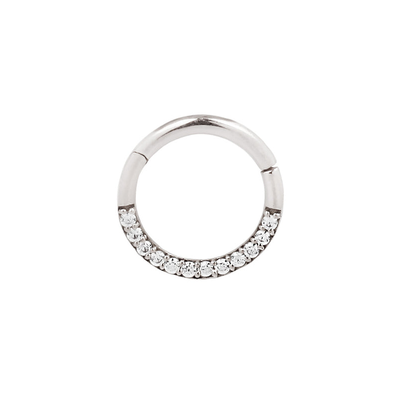 White Gold Dia Clicker CZ