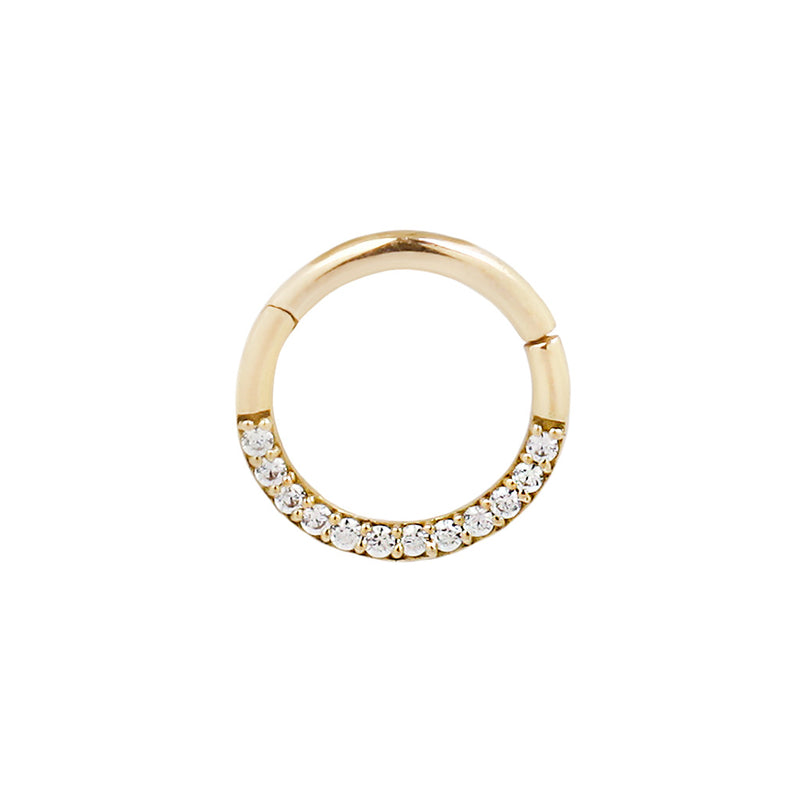 Yellow Gold Dia Clicker CZ