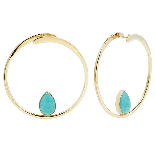 Stay Sexy Earrings - Brass + Amazonite