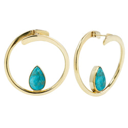 Stay Sexy Earrings - Brass + Turquoise