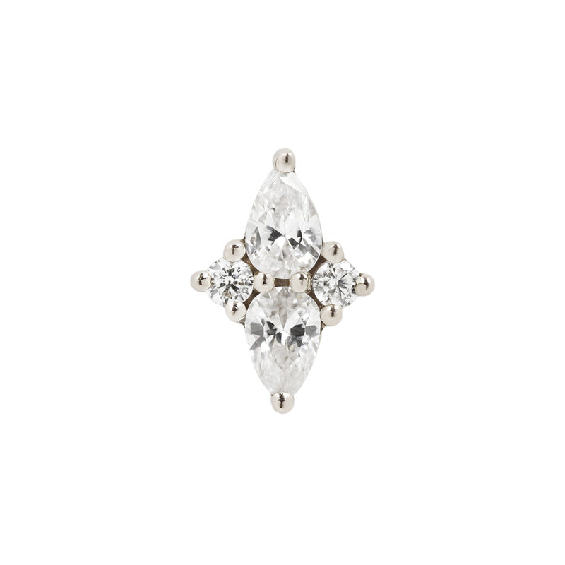 Ethereal CZ in solid white gold