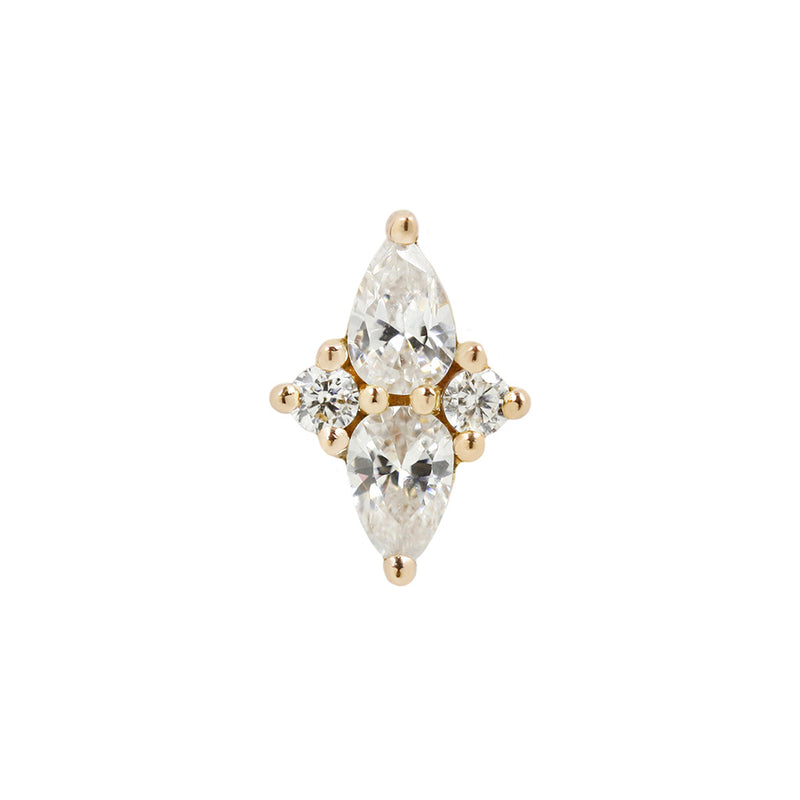 Ethereal CZ in solid yellow gold