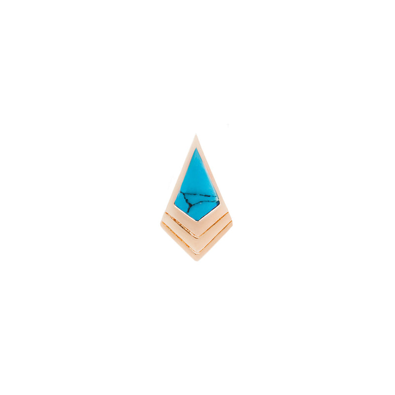 Tribute Turquoise Solid Rose Gold