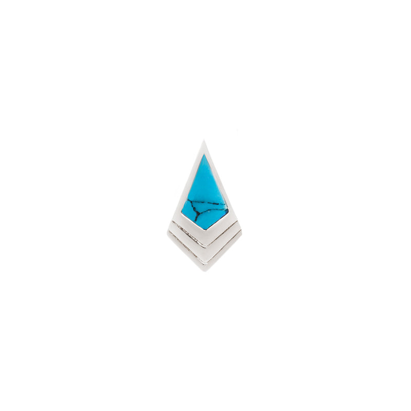 Tribute Turquoise Solid White Gold