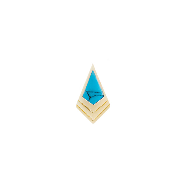 Tribute Turquoise Solid Yellow Gold