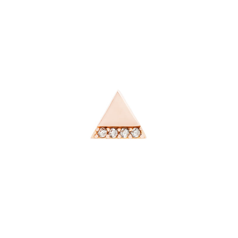 Love Triangle CZ solid rose gold