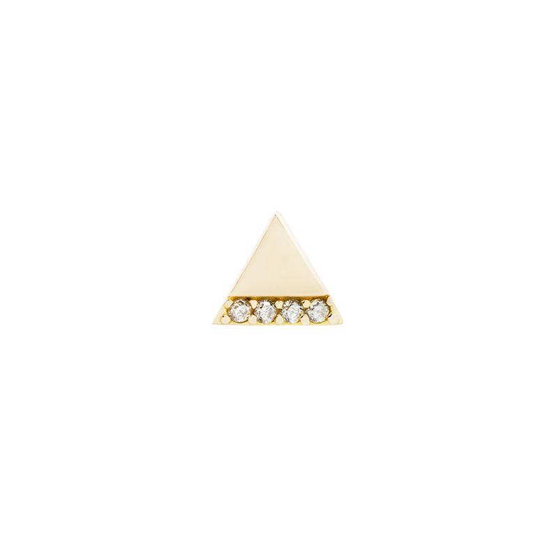 Love Triangle CZ solid yellow gold