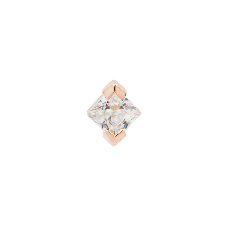 Celestial CZ in solid rose gold front view