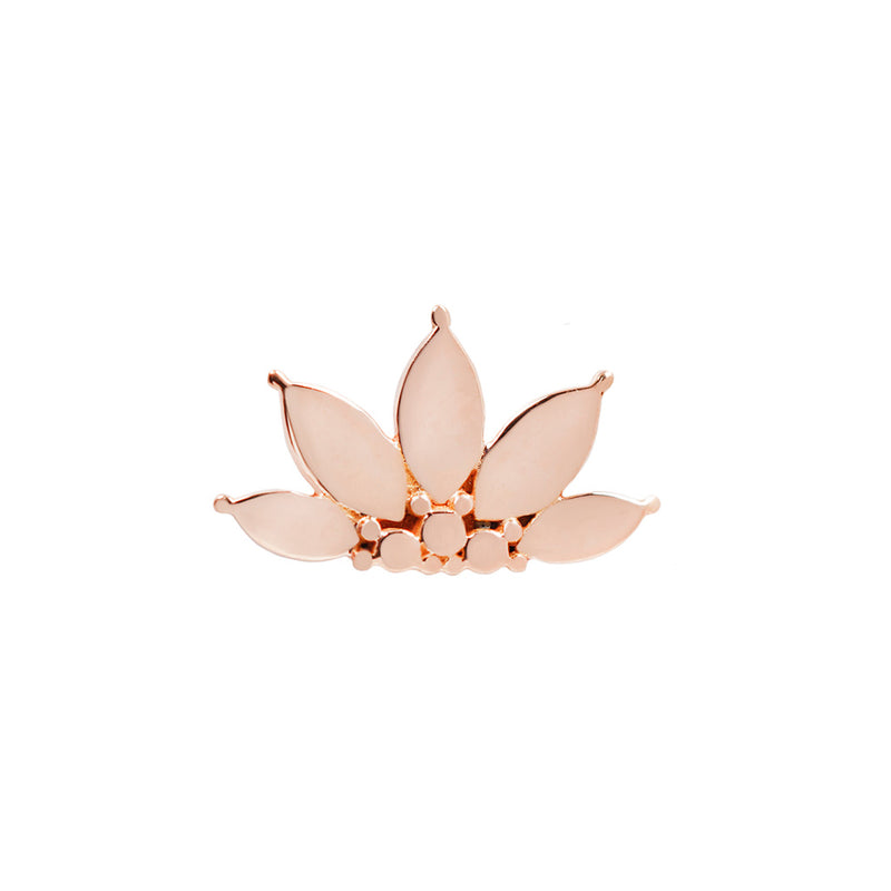 Solid Rose Gold Valentina End