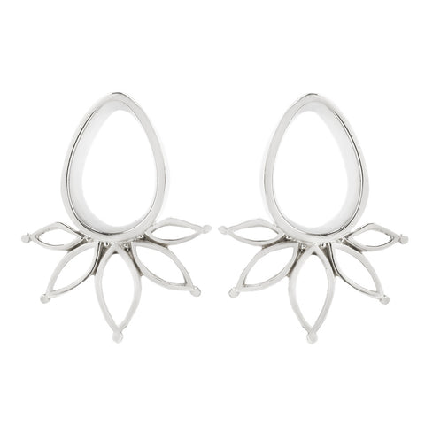 Marquise plugs white gold