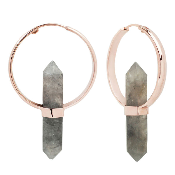 Alchemy Rose Gold Smokey Quartz Earrings