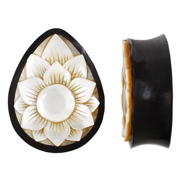Lotus Flower Plug - Mother of Pearl