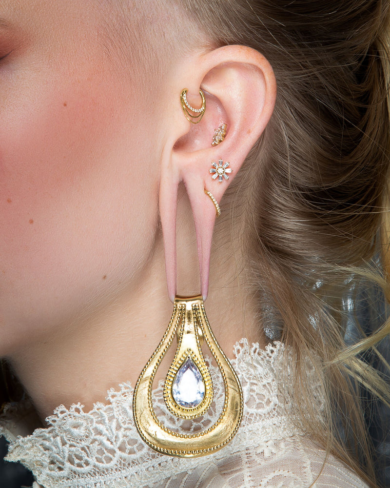 Ear with Deliah Flower + Weights