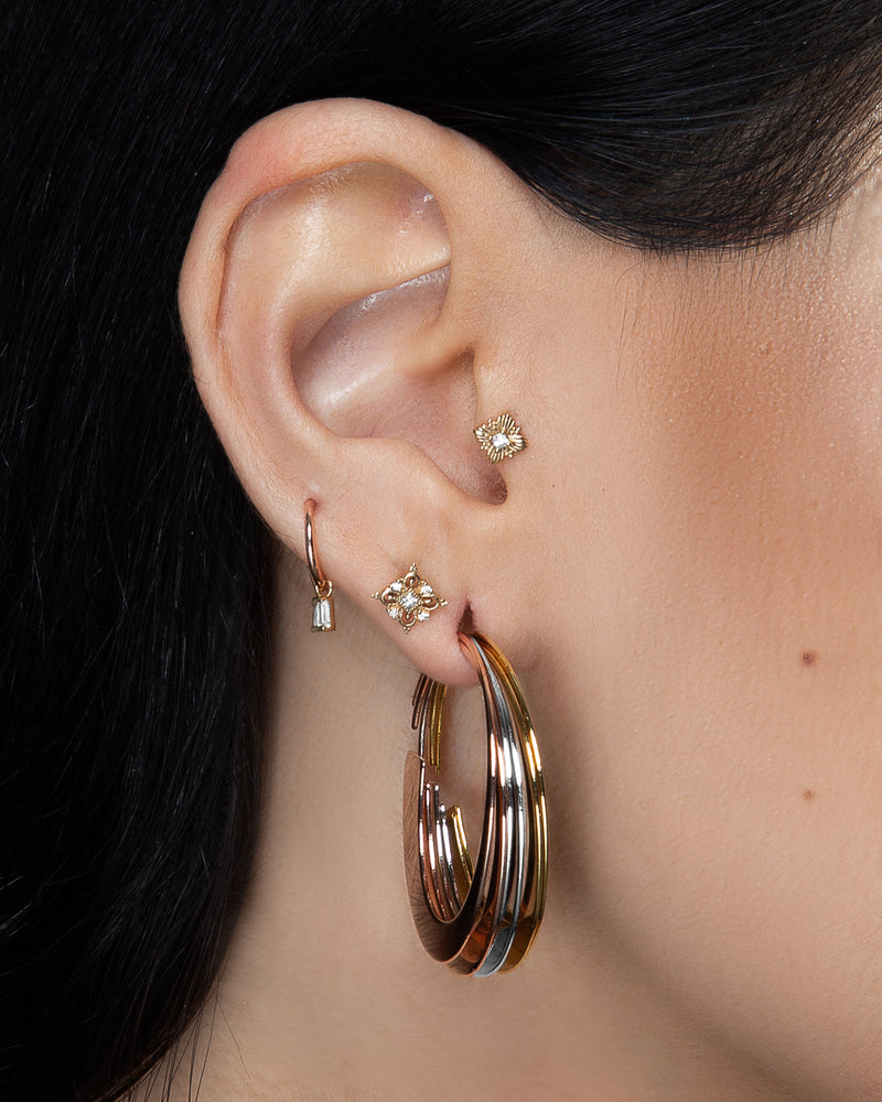 Mirah Earrings stacked