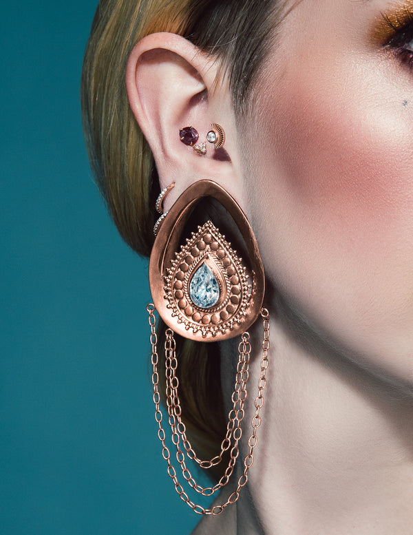 Deity Teardrops in rose gold