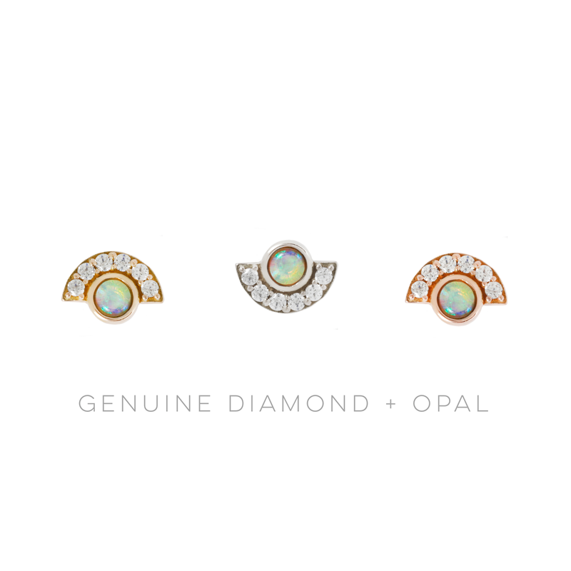 Kahlo Opal + Diamond in solid gold