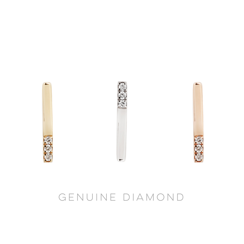 Love Line Diamond in solid gold