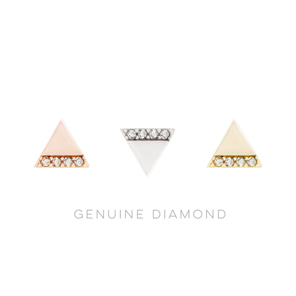 Love Triangle Diamond solid gold