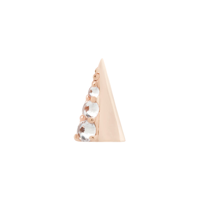 Solid gold spike earring