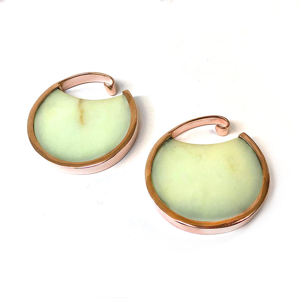 Chrysoprase + Rose Gold Muse Hoops