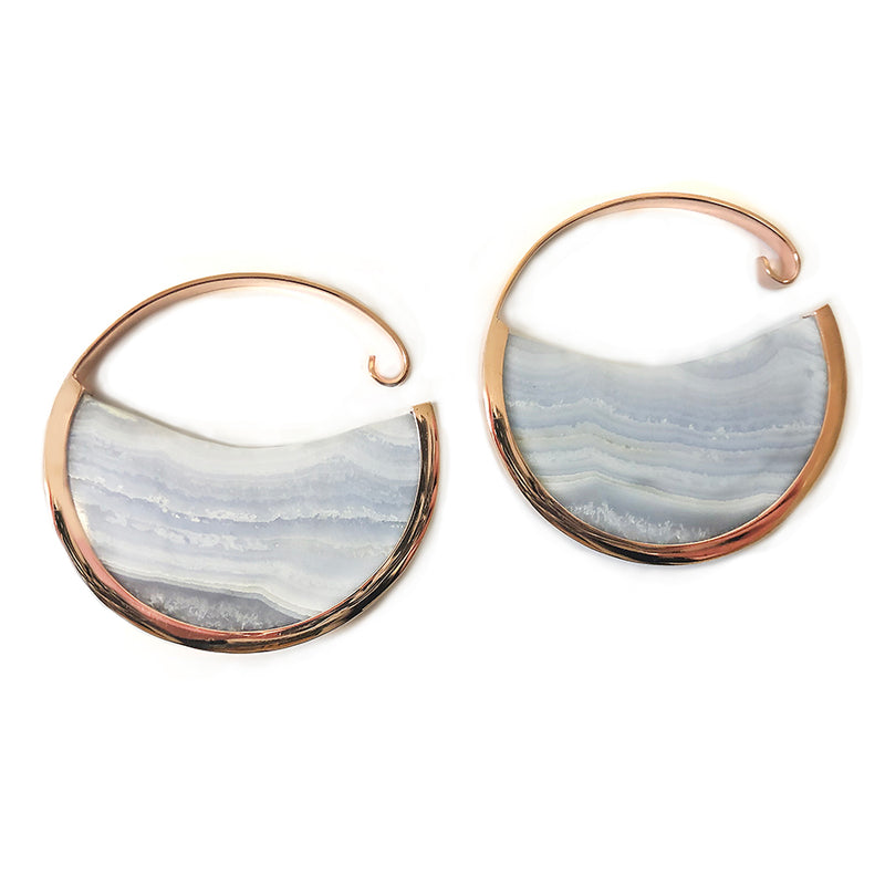 Blue Lace Muse Hoops