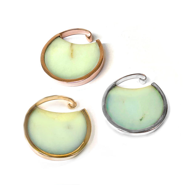 Muse Hoops - Chrysoprase + Gold Plated