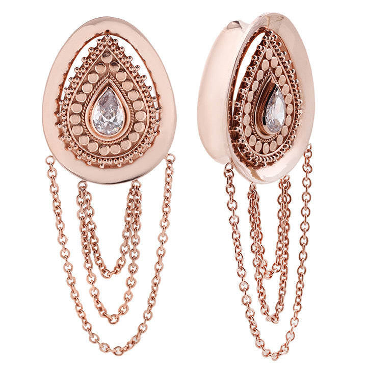 Deity Teardrops Rose Gold