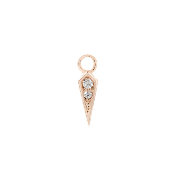 Solid gold spike charm for earrings
