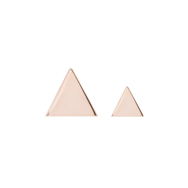 Triangle Solid Yellow Gold Threadless End