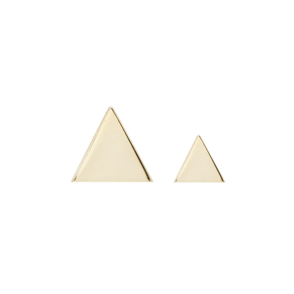 Triangle Solid Rose Gold Threadless End