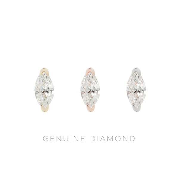 Zuri Marquise Genuine Diamond Solid Gold