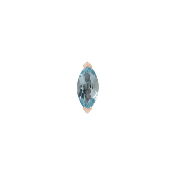 Zuri Marquise Sky Blue Topaz - Threadless End