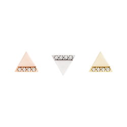 Love Triangle CZ solid gold