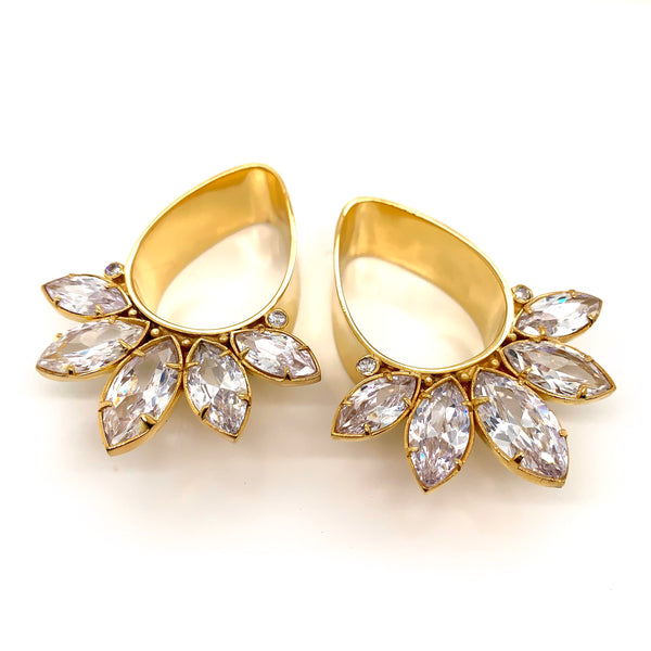 Marquise Teardrop Plugs - All Metals + CZ