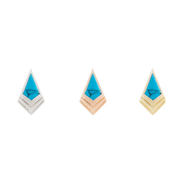 Tribute Turquoise Solid Gold