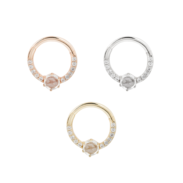 Solid gold piercing rings