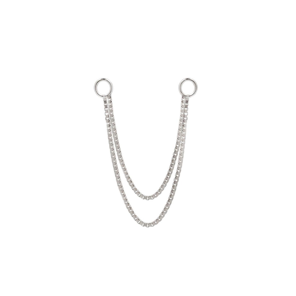 Double Box Chain - White gold