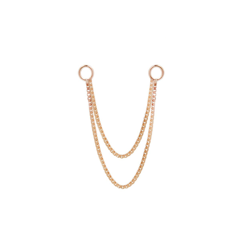 Double Box Chain - Rose gold