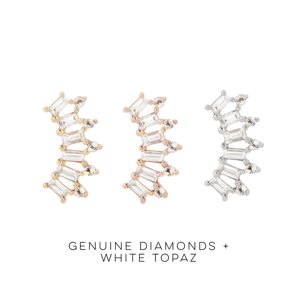 GSTQ - Genuine Diamond + Topaz Threadless End