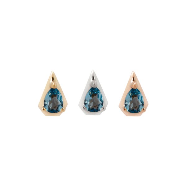 Alaia - London Blue Topaz Threadless End