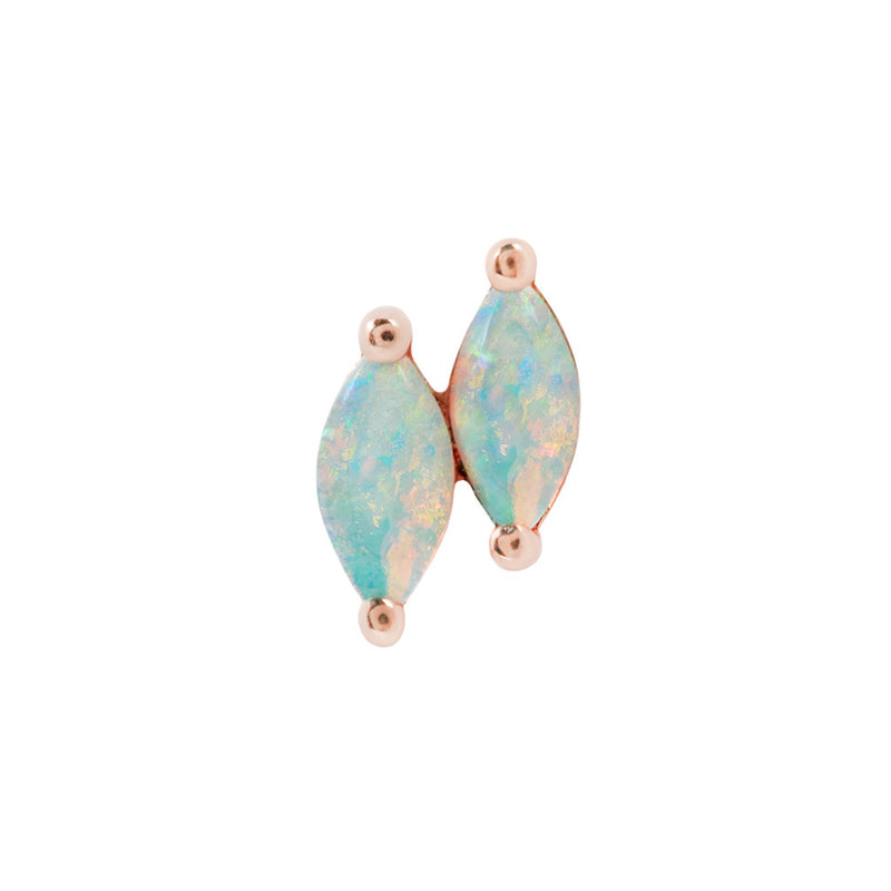 Double Zuri Marquise Opal - Threadless End